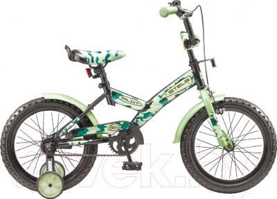 Детский велосипед Stels Pilot 150 2016 (16, красный/зеленый, хаки)