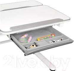 Парта Sundays E502 (серый) - ящик под столешницей