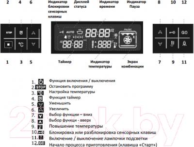Электрический духовой шкаф Zigmund & Shtain EN 222.112 S