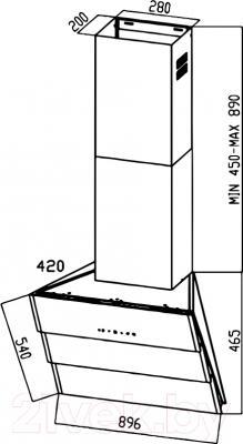 Вытяжка декоративная Zigmund & Shtain K 219.91 X