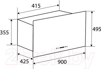 Вытяжка коробчатая Zigmund & Shtain K 286.91 B