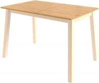 Обеденный стол Mamadoma Тирк раздвижной (дуб/кремовый) -