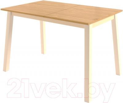 Обеденный стол Mamadoma Тирк раздвижной (дуб/кремовый)