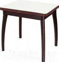 Обеденный стол Домотека Реал М-2 КМ (белый/венге) -