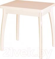 Обеденный стол Домотека Реал М-2 КМ  (бежевый/дуб молочный) -