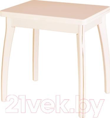 Обеденный стол Домотека Реал М-2 КМ  (бежевый/дуб молочный)