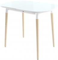 Обеденный стол Mamadoma Бейз (белый/светлое дерево) -