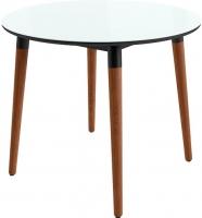 Обеденный стол Mamadoma Бейз D90 (белый/темное дерево) -