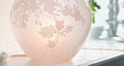 Лампа Ikea Кнуббиг 002.215.96 (белый, цветы вишни)