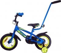 Детский велосипед с ручкой Aist Pluto 12 (синий) -
