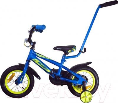 Детский велосипед с ручкой Aist Pluto 12 (синий)