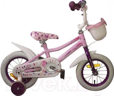 Детский велосипед с ручкой Aist Wiki (12, розовый)