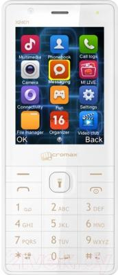Мобильный телефон Micromax X2401 (белый/шампань)