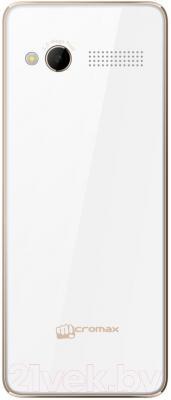 Мобильный телефон Micromax X2420 (белый/шампань)