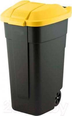 Контейнер для мусора Curver 12900-224-60 / 214128 (110л, черный/желтый)