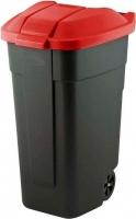 Контейнер для мусора Curver 12900-879-60 / 214126 (110л, черный/красный) -