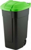 Контейнер для мусора Curver 12900-847-60 / 214125 (110л, черный/зеленый) -