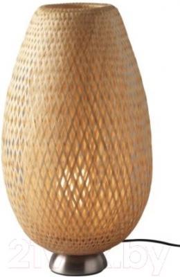 Лампа Ikea Бойа 601.522.79 (никелированный, ротанг)