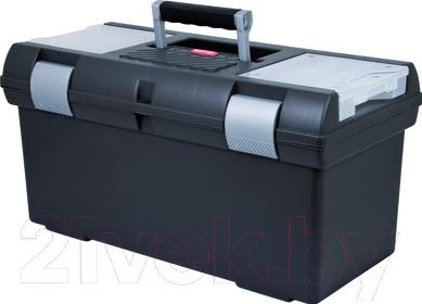 """Ящик для инструментов Curver Premium 26"""" 02935-976-42 / 155338 (графитовый/серебристый)"""