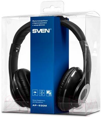 Наушники-гарнитура Sven AP-930M (черный)