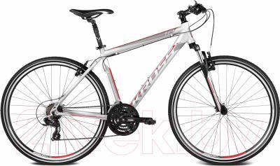 Велосипед Kross Evado 1.0 2016 (M, серебро/красн./черный матовый)