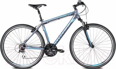 Велосипед Kross Evado 2.0 2016 (M, графитовый/синий матовый)
