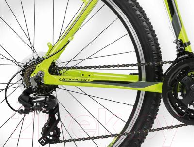 Велосипед Kross Hexagon X1 2016 (M, лайм/черный глянцевый)