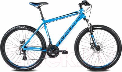 Велосипед Kross Hexagon X2 Disc (L, синий/белый глянцевый)