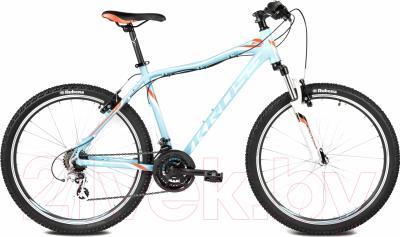 Велосипед Kross Lea F2 2016 (XS, синий/оранжевый/белый глянец)