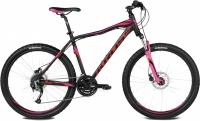 Велосипед Kross Lea F4 2016 (S, черн./красный/розовый матовый) -