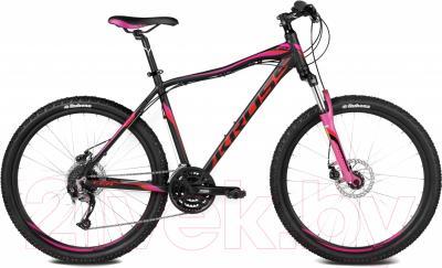 Велосипед Kross Lea F4 2016 (S, черн./красный/розовый матовый)