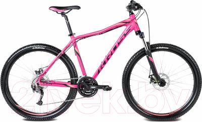 Велосипед Kross Lea R4 2016 (S, фуксия/черный/оранж. матовый)
