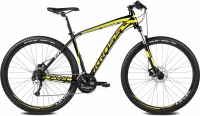 Велосипед Kross Level B1 2016 (L, черный/желтый/белый глянец) -