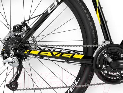 Велосипед Kross Level B1 2016 (L, черный/желтый/белый глянец)