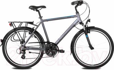 Велосипед Kross Trans India 2016 (L, графитовый/синий матовый)