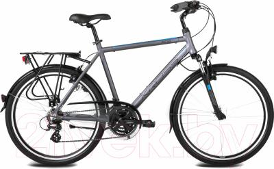 Велосипед Kross Trans India 2016 (M, графитовый/синий матовый)
