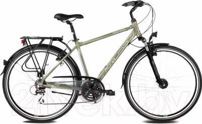 Велосипед Kross Trans Siberian 2016 (L, хаки/серебристый матовый)