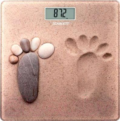 Напольные весы электронные Scarlett SC-218 (песок)