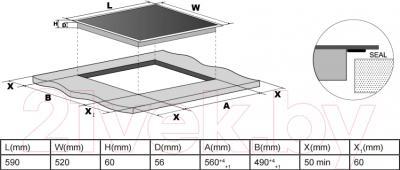 Индукционная варочная панель Hansa BHI68014