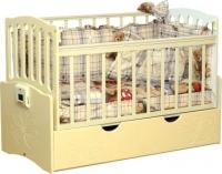 Детская кроватка Daka Baby Укачайка 03 (ваниль) -