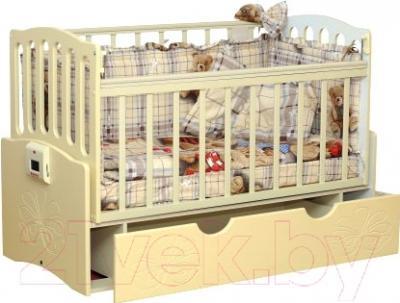 Детская кроватка Daka Baby Укачайка 03 (ваниль)