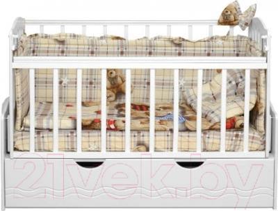 Детская кроватка Daka Baby Укачайка 03 (белый)
