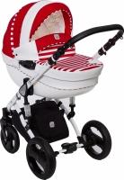 Детская универсальная коляска Dada Paradiso Group Stars Eco 3в1 (красный) -