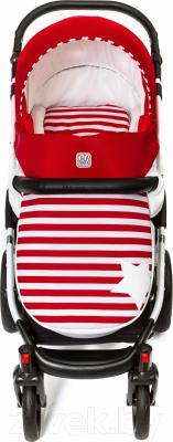 Детская универсальная коляска Dada Paradiso Group Stars Eco 3в1 (красный)