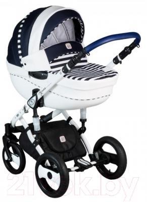 Детская универсальная коляска Dada Paradiso Group Stars 3в1 (синий)