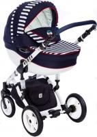 Детская универсальная коляска Dada Paradiso Group Super Sailor Alu 3в1 (морской) -