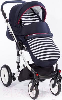 Детская универсальная коляска Dada Paradiso Group Super Sailor Alu 3в1 (морской)