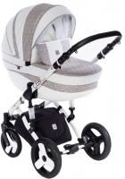 Детская универсальная коляска Dada Paradiso Group Leo Elegance 3в1 (белый) -