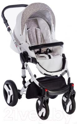 Детская универсальная коляска Dada Paradiso Group Leo Elegance 3в1 (белый)