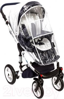 Детская универсальная коляска Dada Paradiso Group Glamour Alu 3в1 (белый)